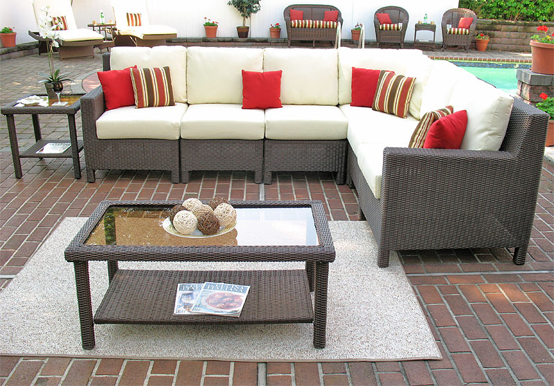 Coffee Brown Caribbean Sectional Groups