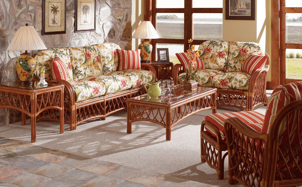 Antiqua Rattan Sofa and Dining Collections