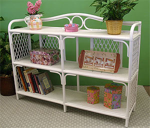Floor Wicker Shelves