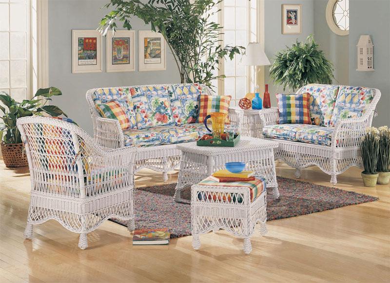 Capri Wicker in White, Brown & Custom Painted Colors