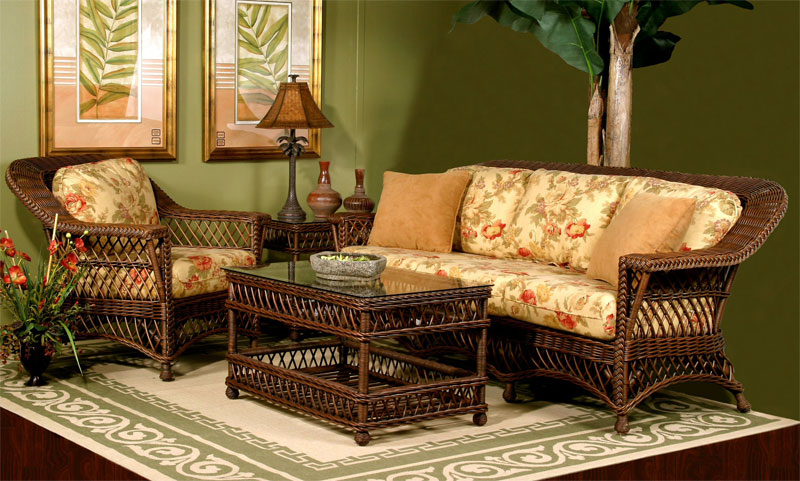 Wicker Harbor Beach Rattan Framed Wicker Furniture Sets