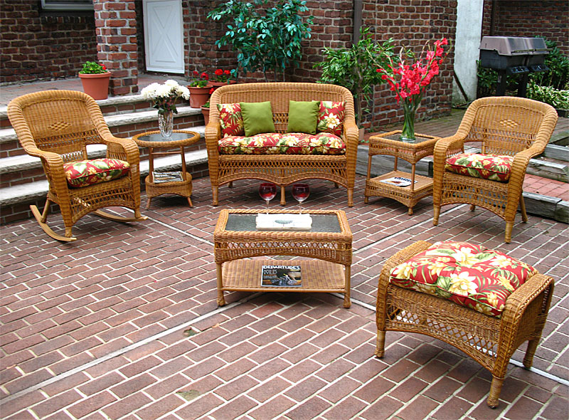 - Wicker Golden Honey Bel Aire Outdoor Resin Wicker Patio Furniture