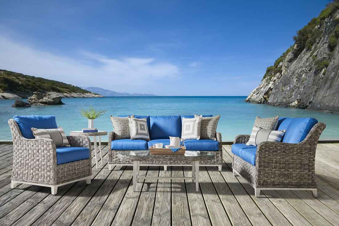 Canyon Lake All Weather Wicker Furniture, Granite Color
