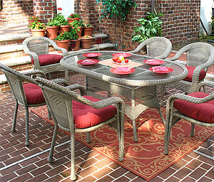 All of Our Wicker Dining Sets