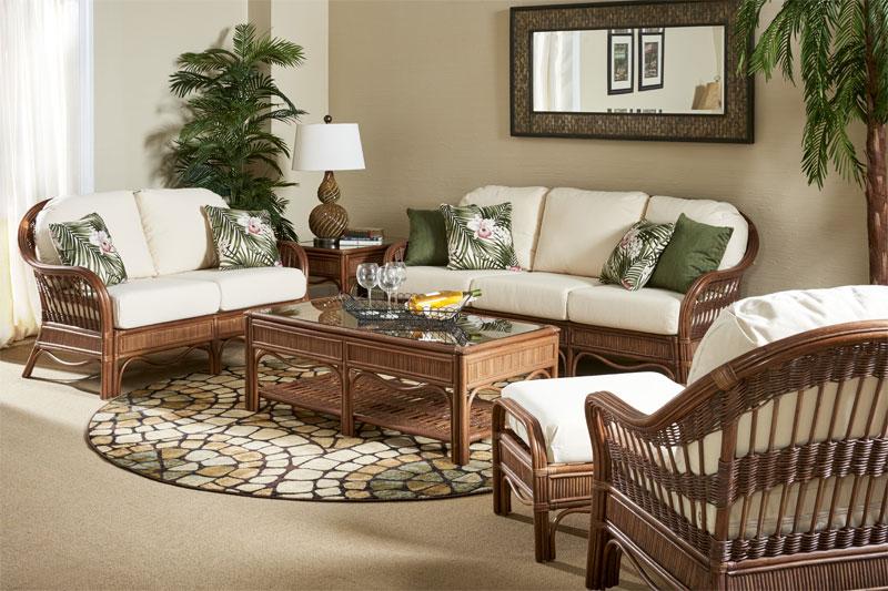 Pecan Bermuda Rattan Furniture Sets