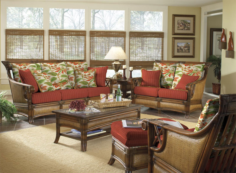 St. Helena Rattan Sofa and Dining Collections