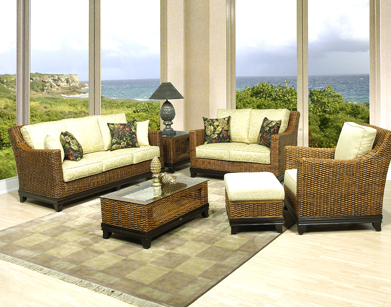 South Beach Wicker Sofa and Dining Sets