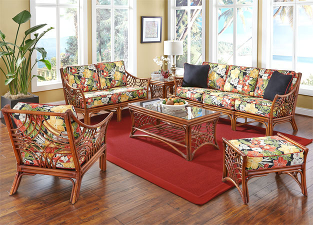Dark South Pacific Rattan Furniture Sets