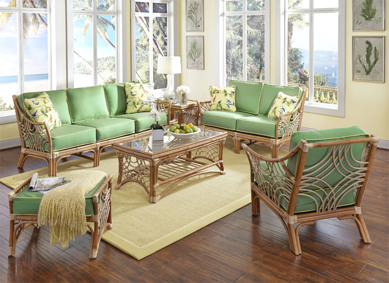Wicker South Pacific Natural Rattan Furniture Sets