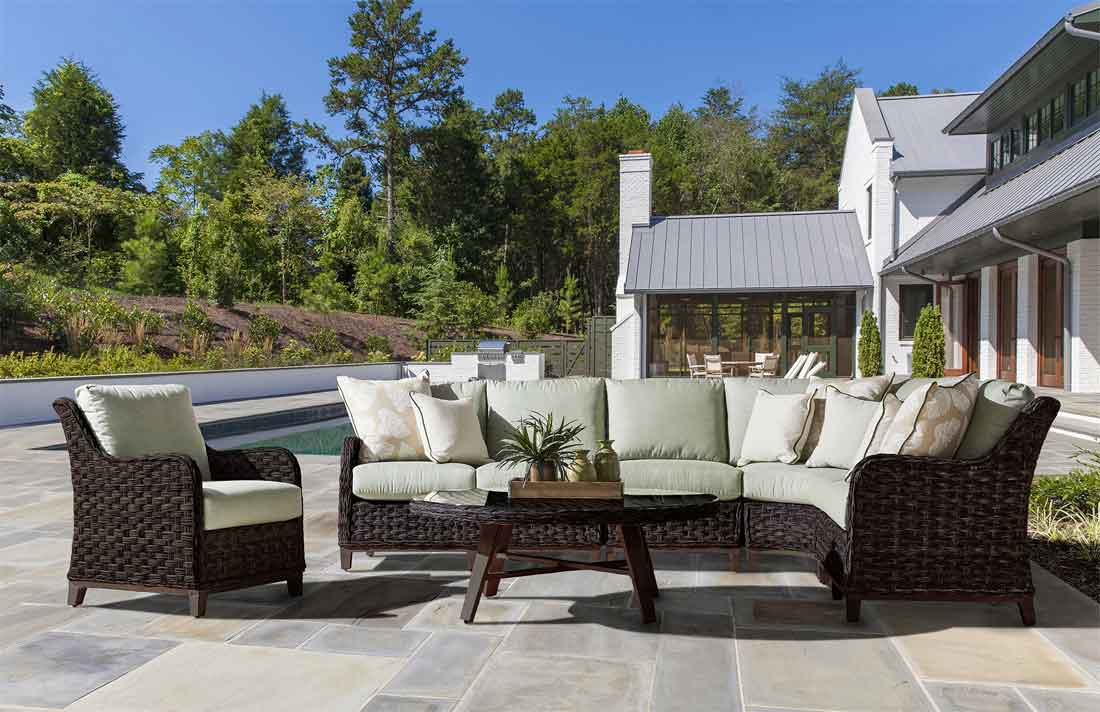 Canyon Lake All Weather Wicker Furniture Sets, Dark Brown Color