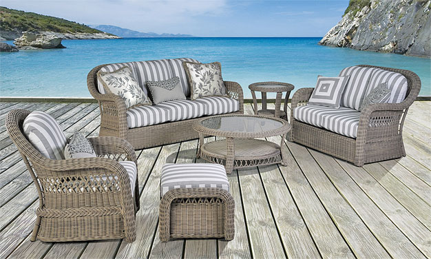Driftwood Basket Weave all Weather Seating Collections