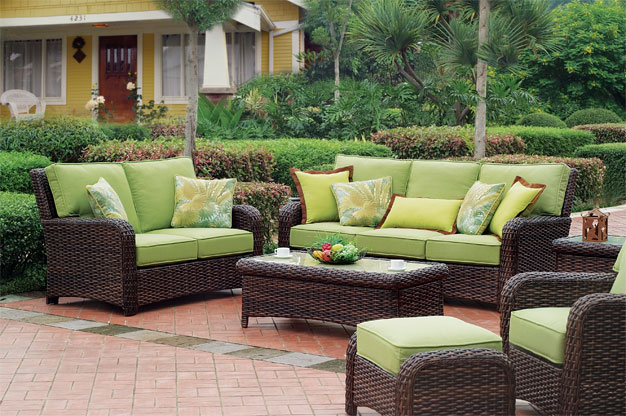 Espresso St. Croix All Weather Wicker Seating and Dining Collections