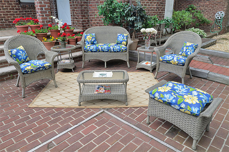 Driftwood High Back Veranda Outdoor Wicker Patio Furniture