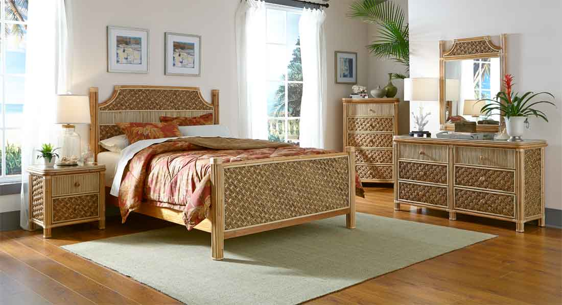 bamboo bedroom set wicker nassau rattan bedroom sets 10164