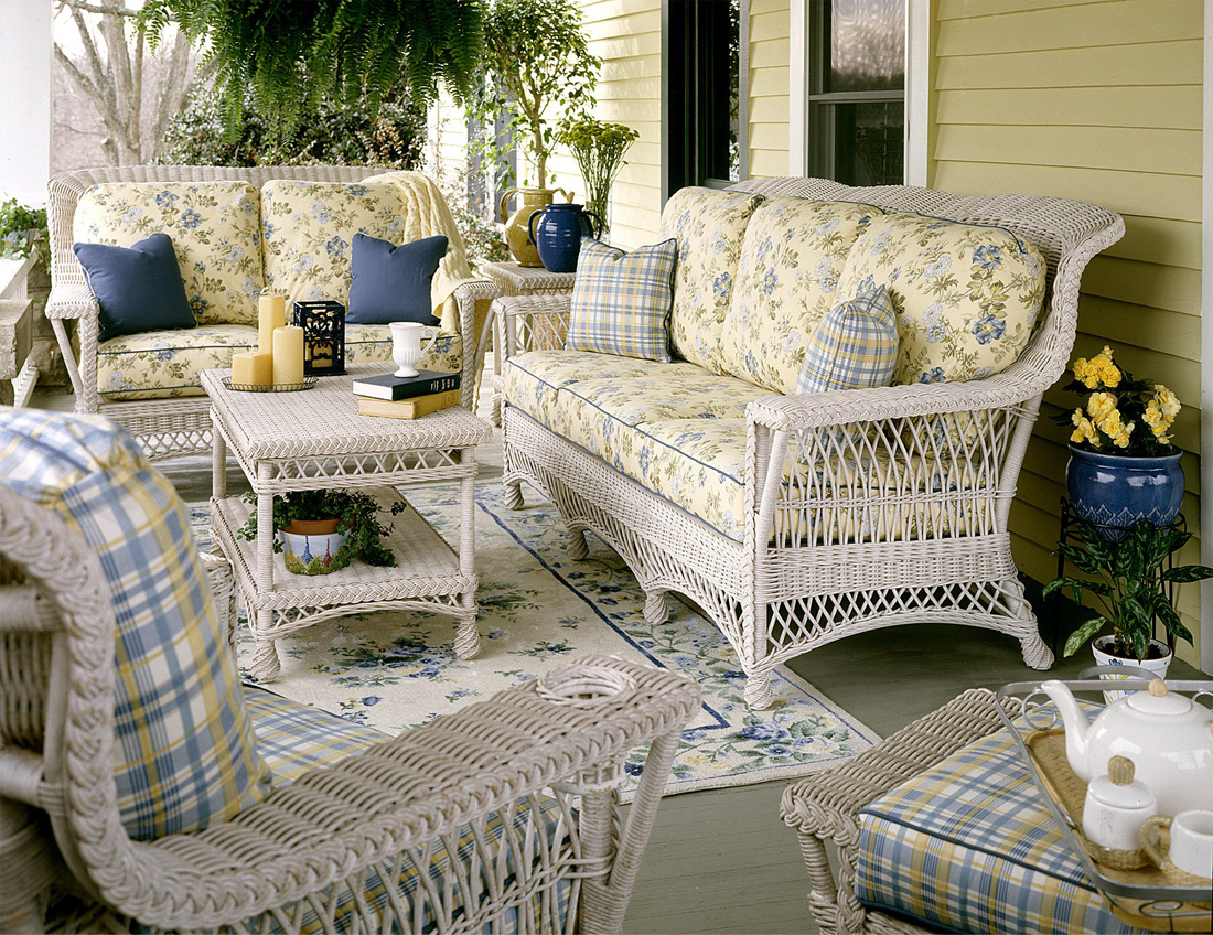 Wicker Rockport Ratan Framed Natural Wicker Furniture Sets ...