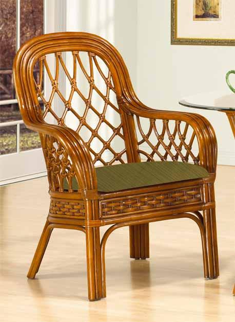coconut beach rattan dining arm chair
