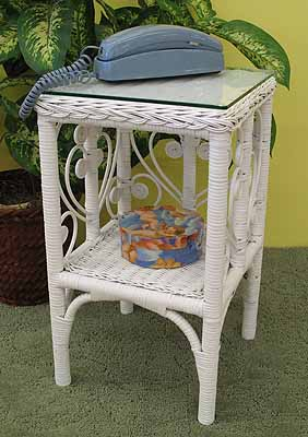 Sweetheart Wicker Telephone Table