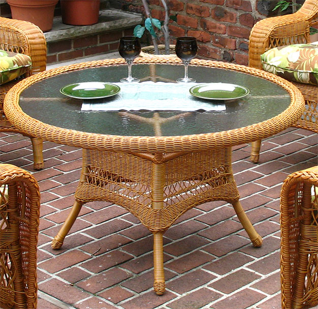 42quot Round X 24quot High Resin Wicker Conversation Table with  : c42 gh from www.wickerwarehouse.com size 626 x 608 jpeg 162kB