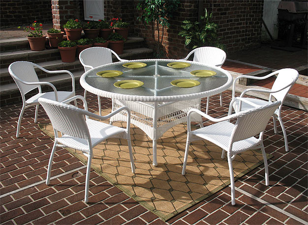Resin Wicker Dining Set 60 Quot Round