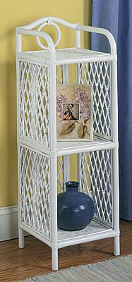 Pole Rattan Slim and Tall 3-Tier Floor Shelf - TEAWASH