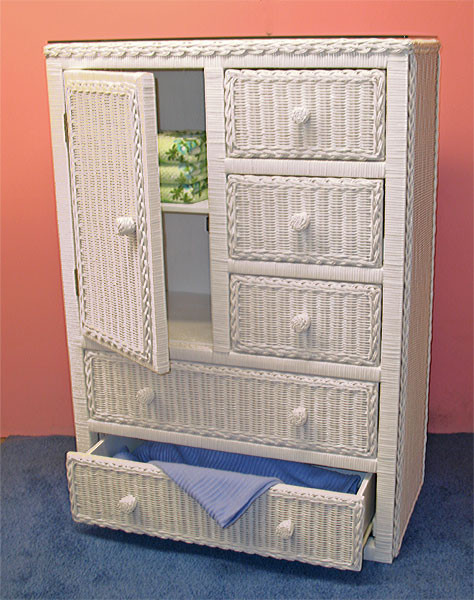 Traditional Wicker Armoire