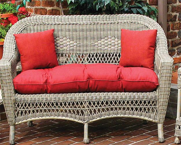 sunbrella indoor outdoor belair loveseat replacement cushion. Black Bedroom Furniture Sets. Home Design Ideas