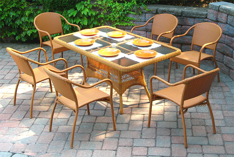 60 X 36 Rectangular Dining Set With 6 Bistro Chairs