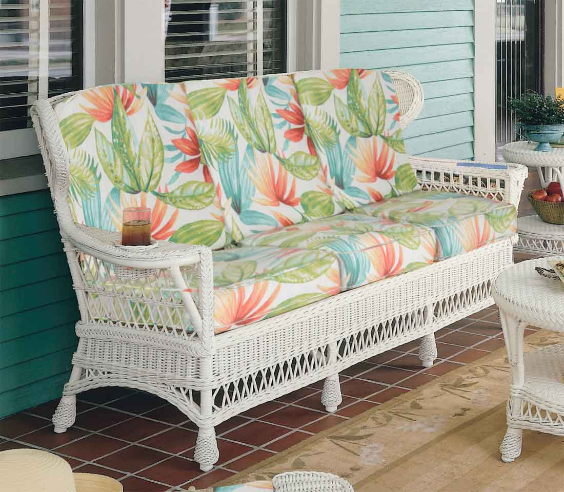 Vintage Natural Wicker Sofa