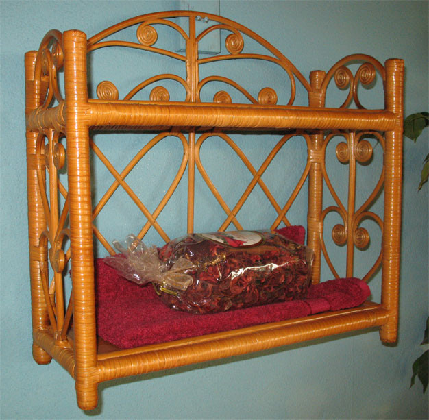 Heart SidesTwo Tier Wicker Wall Rack - TEAWASH