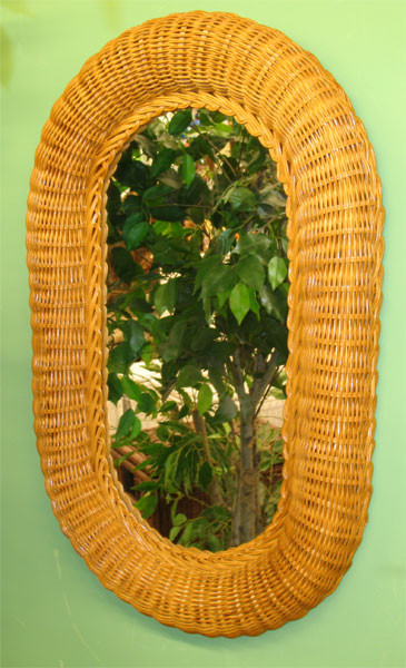 Large Oval Wicker Mirror 29 Quot High