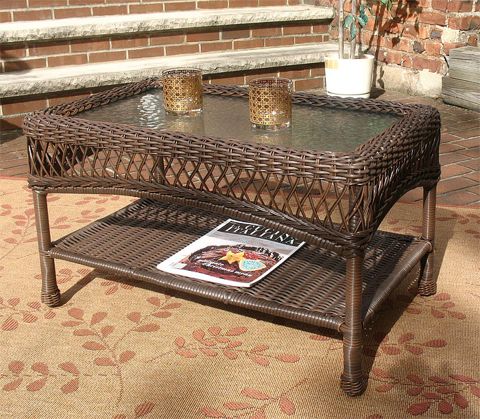 Madrid Resin Wicker Cocktail Or CoffeeTable