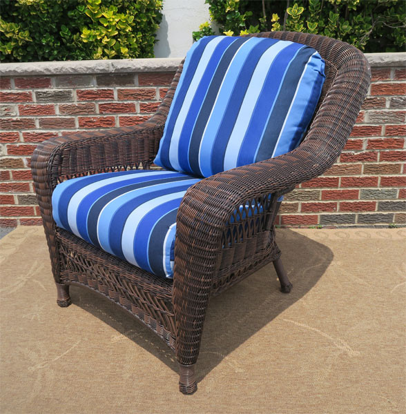 Resin Wicker Chair Antique Brown