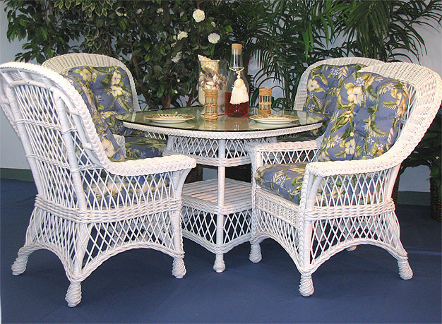 5 Piece Harbor Beach Wicker Dining Set 48 Quot Square Round