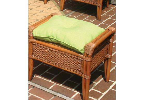 Sunbrella Fabric Wicker Ottoman Cushion