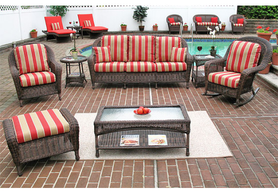 4 Piece Laguna Beach Resin Wicker Patio Furniture With Sofa 2 Chairs
