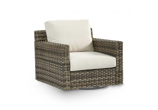 Biscayne Bay All Weather Resin Wicker Swivel Glider Chairs - SANDSTONE FINISH