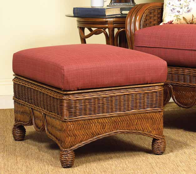 ... Casa Blanca Storage Ottoman With Cushion   MAHOGANY