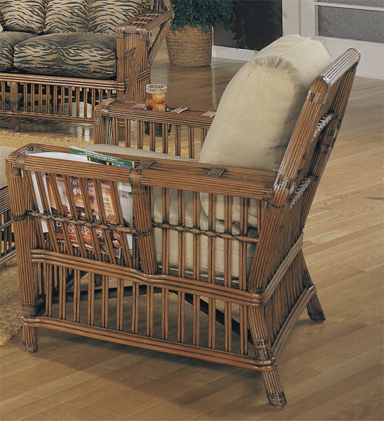 Capistrano Rattan Lounge Chair   COFFEE Capistrano Rattan Lounge Chair    COFFEE ...