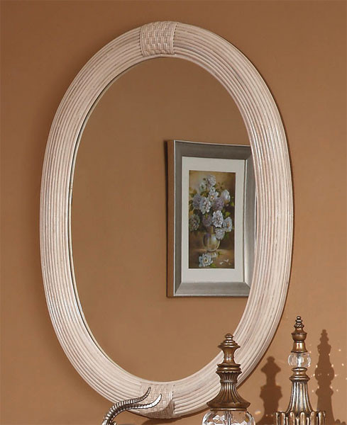 Mezza Luna Oval Rattan Mirror
