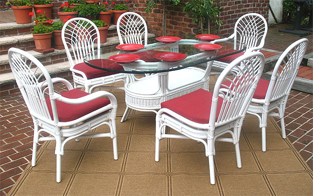Natural Rattan Oval Dining Set Savannah 72 Quot Oval