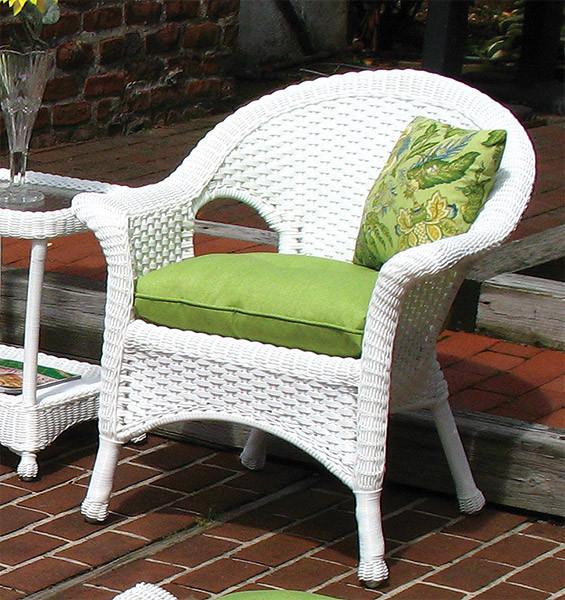 ... Sunbrella Fabric Wicker Chair Cushion   Sunbrella Fabric Wicker Chair  Cushion ...