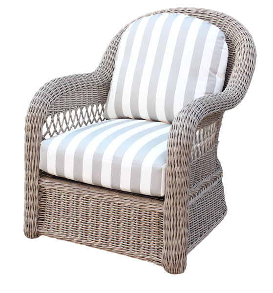 Bon ... Basket Weave Resin Wicker Chair   DRIFTWOOD ...