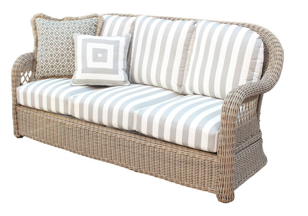 ... All Weather Resin Wicker Outdoor Sofa, Driftwood Color Basket Weave    DRIFTWOOD ...