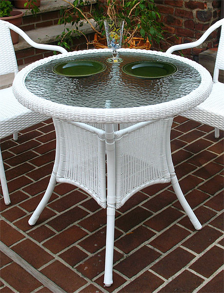 Resin Wicker Bistro Dining Table 30 Quot Round