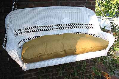 ... Resin Wicker Porch Swing Loveseat White ...