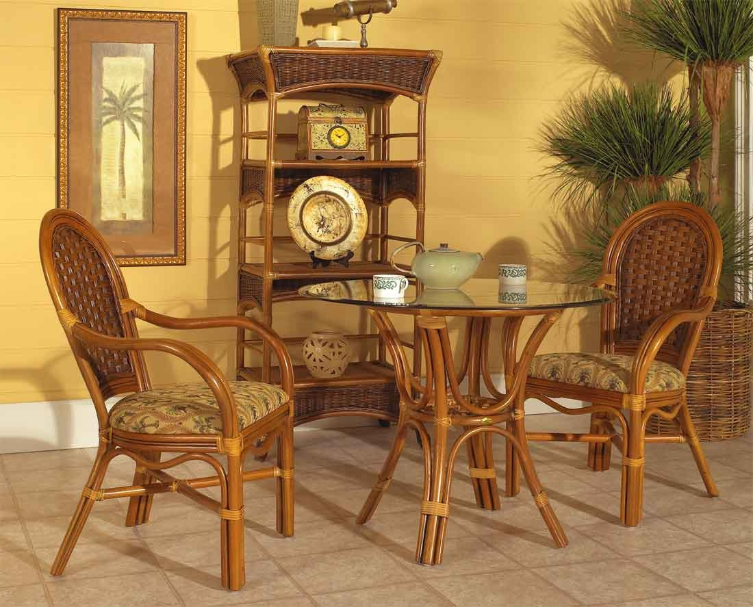 Bon ... 3 Piece Portofino Rattan Cafe Dining Set With 2 Arm Chairs   ROYAL OAK