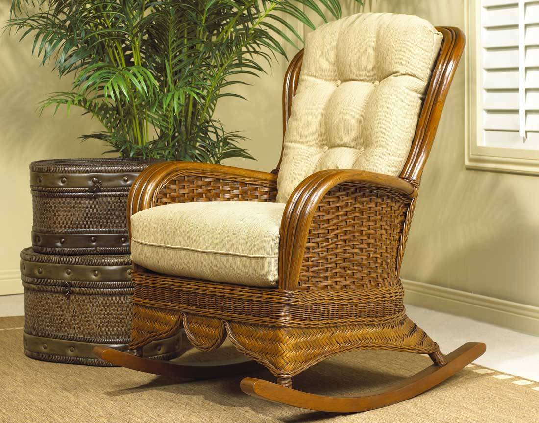 ... Casa Blanca Natural Rattan High Back Rocking Chair - URBAN MAHOGANY & Casa Blanca Natural Rattan High Back Rocking Chair