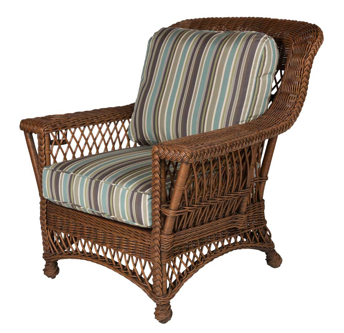 ... Rockport Wicker Chair With Magazine U0026 Glass Holder High Back   COFFEE  ...