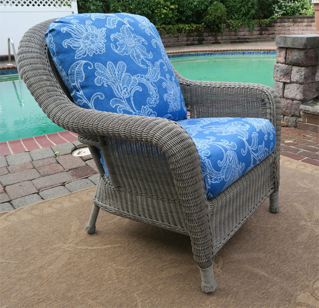 ... Laguna Beach Resin Wicker Chair   DRIFTWOOD ...
