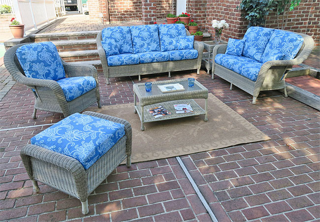 6 Piece Laguna Beach Resin Wicker Patio Set With Sofa, 2 Chairs, ...